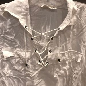 Abercrombie & Fitch white lace up